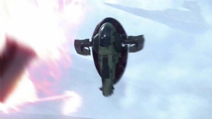 A Slave I em ação no novo Star Wars Battlefront (Foto: Divulgação/EA)