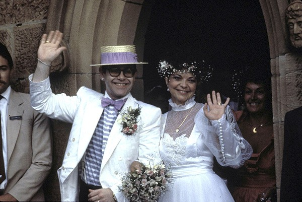 Elton John e Renate Blauel (Foto: Getty Images)