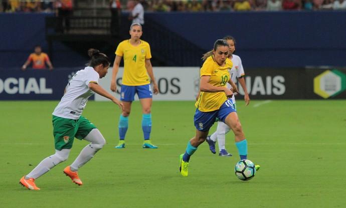 Marta Brasil x Bolívia (Foto: Agência Estado)
