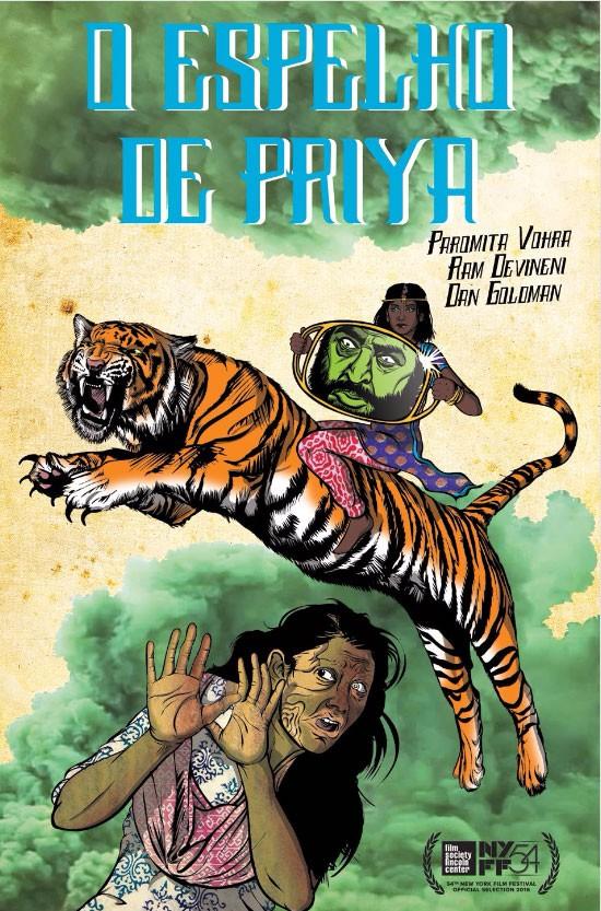 """Capa da HQ """"O Espelho de Priya"""" (Foto: Reprodução)"""