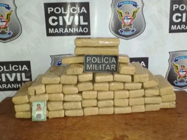 Droga apreendida saiu de Teresina, no Piauí, e tinha como destino final a cidade de São Luís, MA (Foto: Reprodução/TV Mirante)