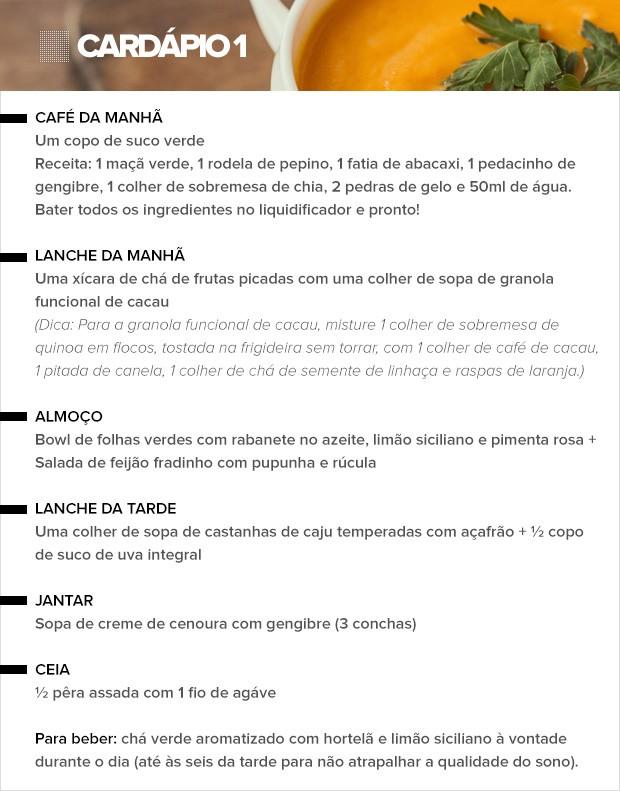 Cardápio 1 (Foto: Sandy Bahia/EGO)
