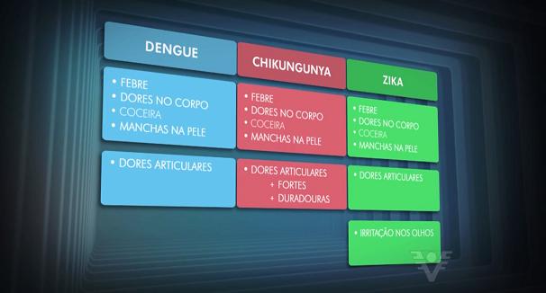Principais sintomas das doenças transmitidas pelo mosquito (Foto: Reprodução/TV Tribuna)
