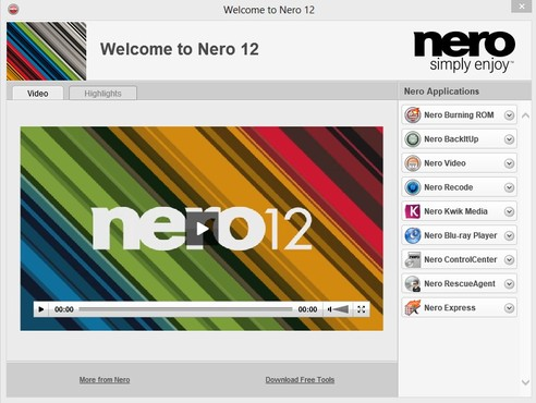 screenshot de Nero 12
