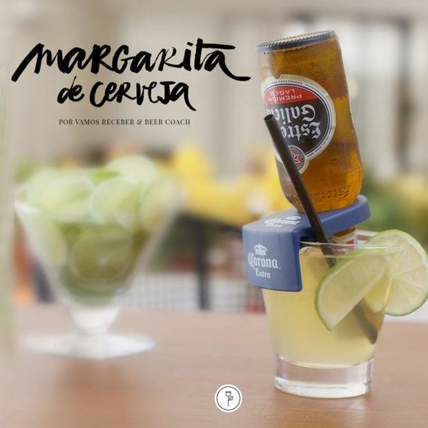 Margarita de cerveja para o fim de semana