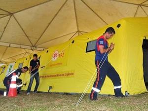 Resultado de imagem para tendas contra dengue df