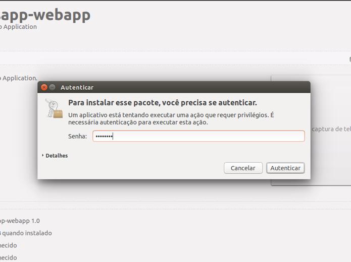 O Ubuntu exigirá a sua senha para dar continuidade à instalação (Foto: Reprodução/Filipe Garrett)