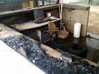 Guarita da Dedini é queimada durante protesto de demitidos em Piracicaba