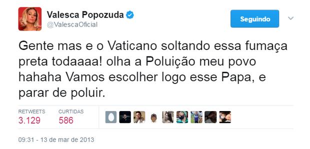 Tweet de Valesca Popozuda (Foto: Reprodução/Twitter)