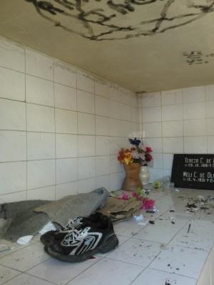 Cemitério de azulejos em curitiba