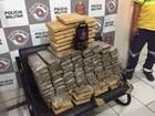 Homens são presos por traficar 100 quilos de maconha em Castilho