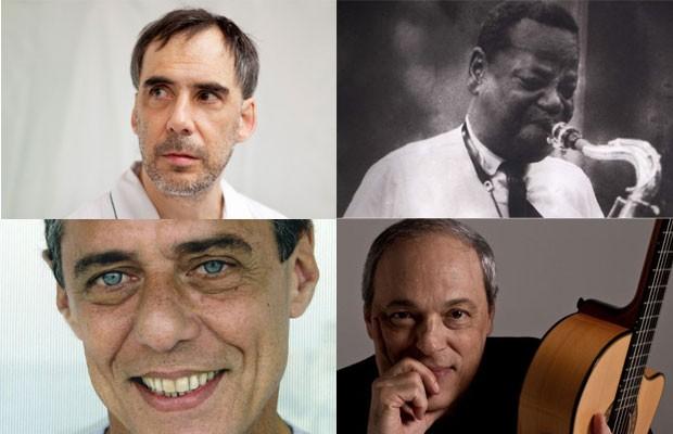 Arnaldo Antunes, Pixinguinha, Chico Buarque e Toquinho foram citados no Enem. (Foto: Fernando Lazlo (Arnaldo Antunes), Reprodução/TV Liberal (Pixinguinha), Marcos Hermes (Toquinho) e reprodução (Chico Buarque))