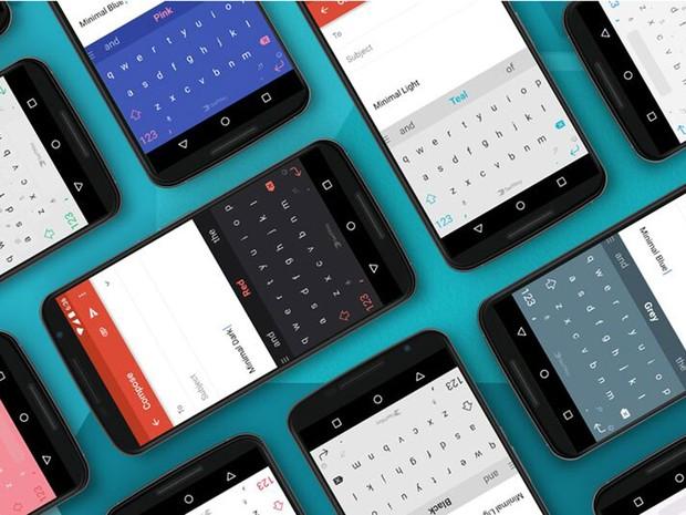 Aplicativos da SwiftKey instalados em smartphones Android. (Foto: Divulgação/SwiftKey)