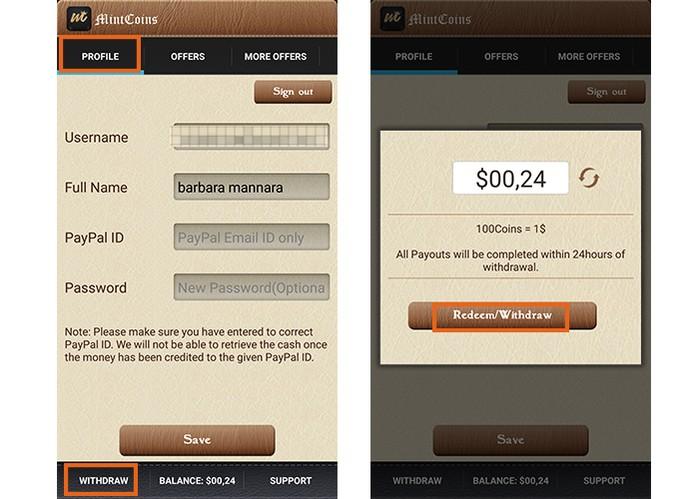 Confira o saldo e faça o resgate do dinheiro no app (Foto: Reprodução/Barbara Mannara)
