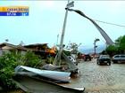 Dez dias após temporal, moradores reconstroem casas no Norte do RS