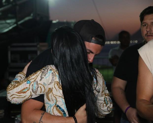 A cantora Maraísa, da dupla com Maiara, e o ex-BBB Antônio Rafaski (Foto: Marcello Sá Barretto e Daniel Pinheiro/AgNews)