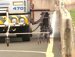 Sinalização na pista de Ribeirão Preto da Stock Car (Foto: Reprodução EPTV)