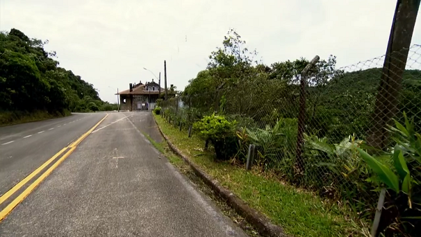 Estrada Velha de Santos (Foto: Reprodução/TV Tribuna)