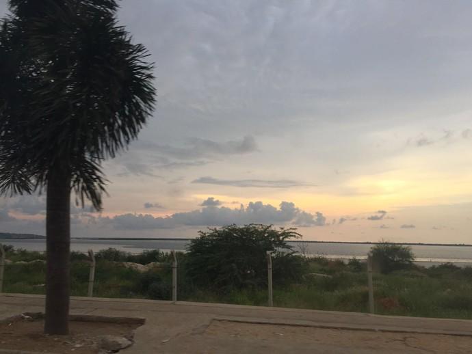Mas antes de voltar deu pra curtir um pôr-do-sol  (Foto: Divulgação / TV Gazeta ES)