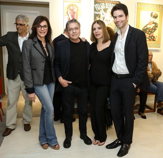 Christiane Torloni, Mario Monteiro, Liege Monteiro e Luiz Fernando (Foto: Roberto Filho/Brazil News)