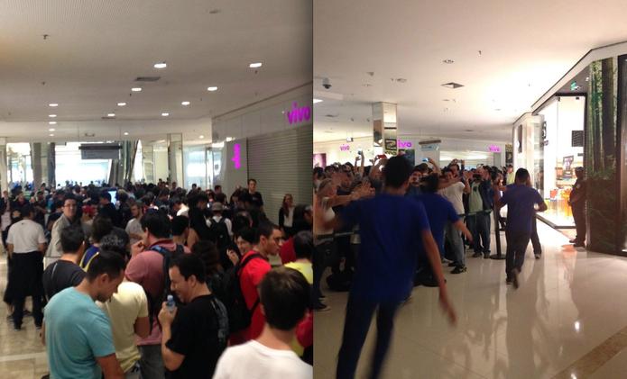 Inauguração da segunda Apple Store no Brasil arrasta multidão pra shopping de SP (Foto: Divulgação)