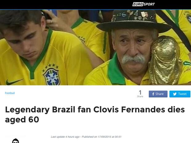 Morte de Gaúcho da Copa repercute em sites internacionais (Foto: Reprodução)