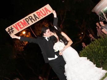 Daniel Brandimarte e Juliana Morais foram aplaudidos na hora do beijo. (Foto: Divulgação/www.nilolima.com.br)