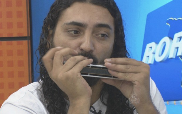 Gaitista brasiliensse Rafael Alabarce, durante apresentação no Roraima TV (Foto: Roraima TV)