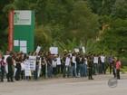 Estudantes protestam e pedem melhorias na MG-179, em Machado