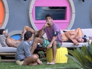 BBB às 17h34m do dia 26/01. (Foto: Big Brother Brasil)