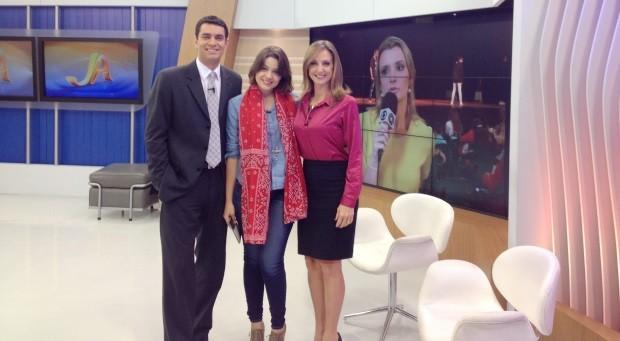 Maria Luiza participou do Jornal do Almoço (Foto: RBS TV/Divulgação)