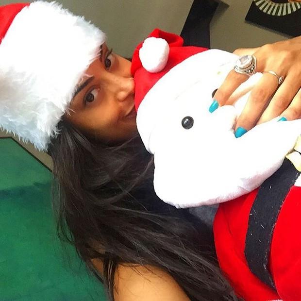 Aline Riscado deseja feliz Natal (Foto: Instagram/ Reprodução)