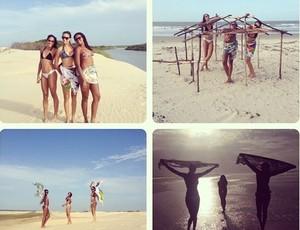 Casa das 13 mulheres: meninas do Maranhão Vôlei vivem em hotel em São Luís (Foto: Arquivo Pessoal)