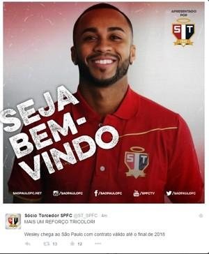 Wesley São Paulo (Foto: reprodução )