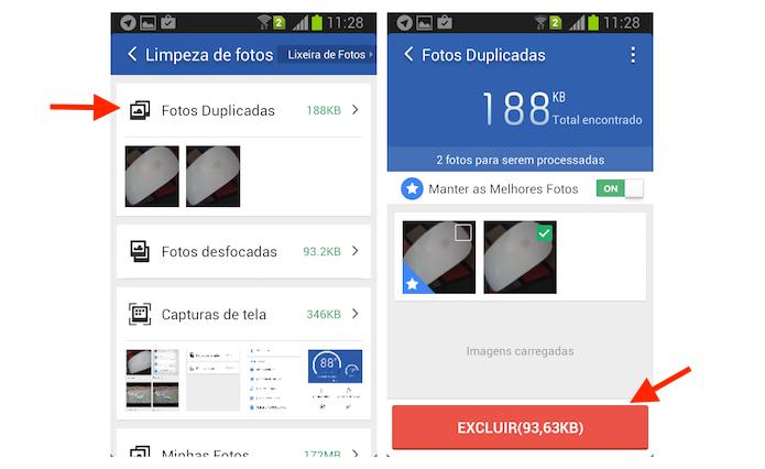 Encontrando fotos duplicadas no Android com o Clean Master (Foto: Reprodução/Marvin Costa)