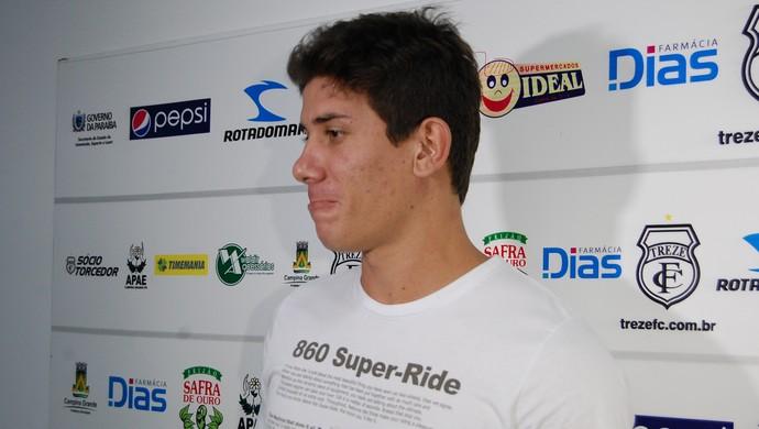 Giancarlo, atacante do Treze (Foto: Silas Batista / Globoesporte.com/pb)