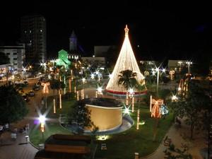 Decoração natalina no município de Três Rios, RJ (Foto: Divulgação/PMTR)