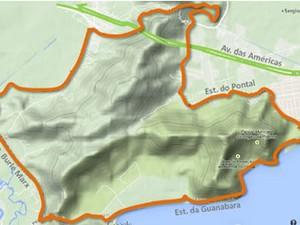 Atletas farão duas voltas na Serra de Grumari (Foto: Reprodução/ CET-Rio)