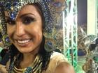 Gracyanne Barbosa exibe machucados após desfile da Portela