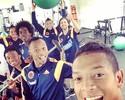 Em selfie, Guarin registra animação da Colômbia na preparação para a Copa