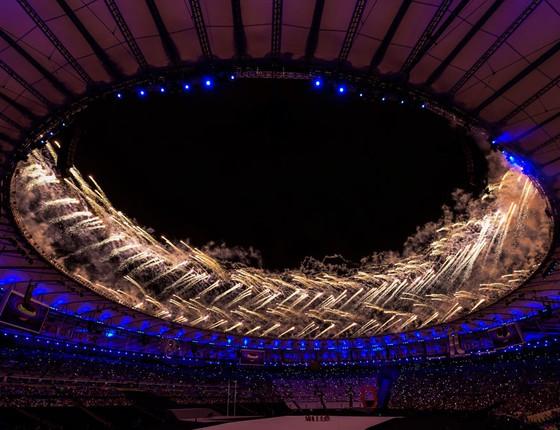 Cerimônia de abertura dos jogos Paraolímpicos do Rio de Janeiro (Foto:  Bruna Prado/Getty Images)