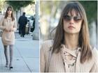 Alessandra Ambrósio muda o visual e agora exibe franjinha