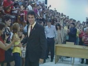 Camilo Santana é filiado ao PT (Foto: TV Verdes Mares/Reprodução)