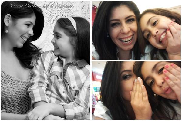 Apresentadora do MGTV 1ª edição, Vanessa Carlos, em momento descontraído com a filha Mariana  (Foto: Arquivo Pessoal / Mauro Marques)