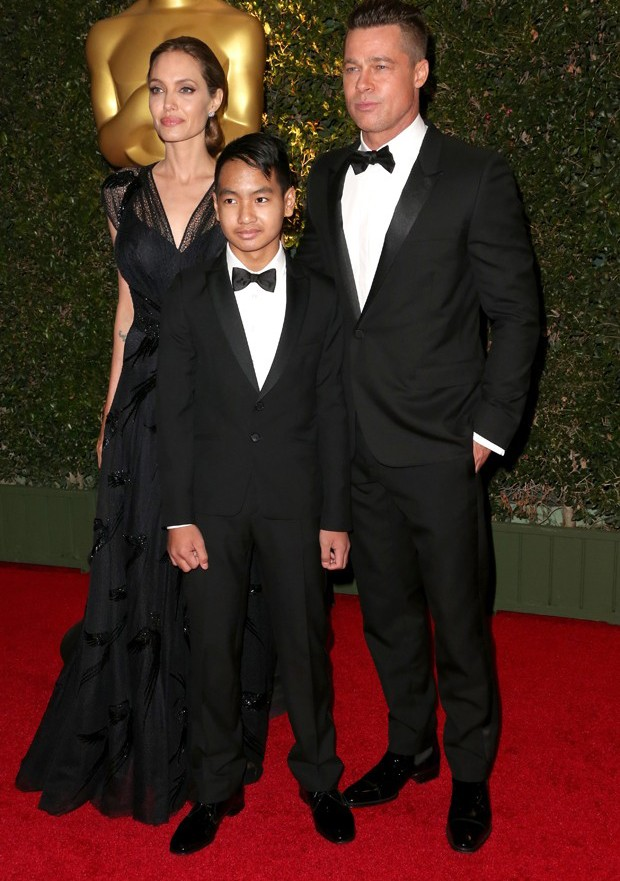Angelina Jolie, Maddox e Brad Pitt (Foto: Getty Images)