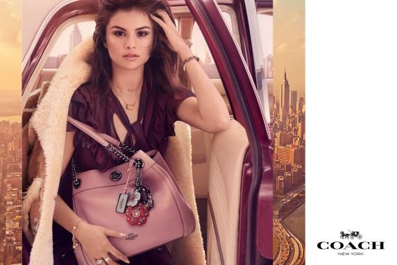 Selena Gomez em campanha da Coach (Foto: Divulgação )