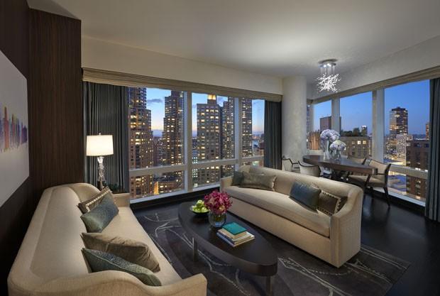 Mandarin Oriental New York: luxo nas alturas (Foto: George Apostolidis e Divulgação)