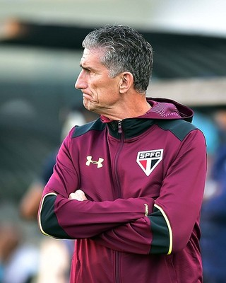 Edgardo Bauza Santos X São Paulo (Foto: Marcos Ribolli)