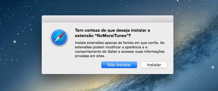 Instalando extensão no navegador (Foto: Reprodução/Helito Bijora)