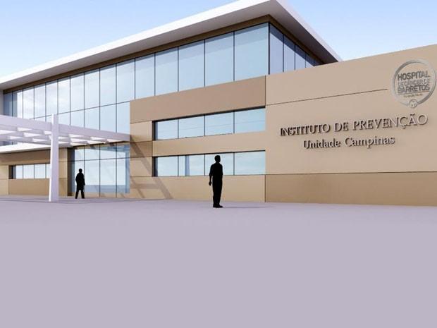 Projeto da unidade do Hospital de Câncer de Barretos em Campinas (Foto: Hospital de Câncer de Barretos)